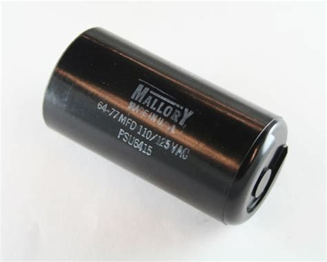 motor start capacitor mallory psu6415 mallory capacitor 64uf 110v application motor