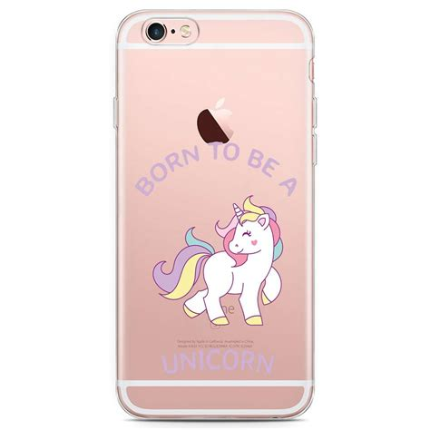 Unicorn For Iphone 6s iphone 6 6s hoesje born to be a unicorn knaldeals