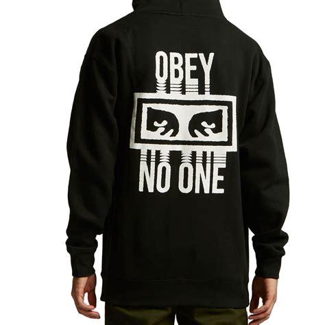 obey no one hoodie black