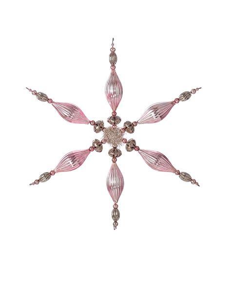beaded snowflake ornaments beaded snowflake ornaments martha stewart