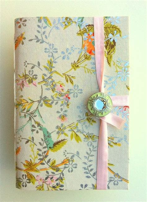 Handmade Journal Covers - handmade journal notebook made with floral colorful