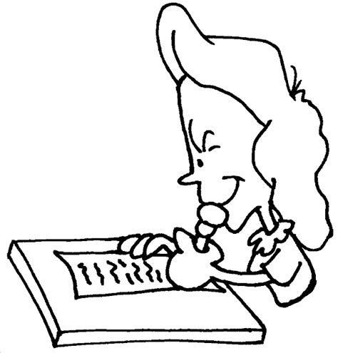 girl writing coloring page free coloring pages of a boy writing