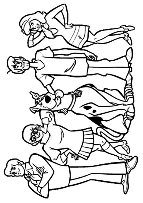 scooby doo coloring pages coloring factory