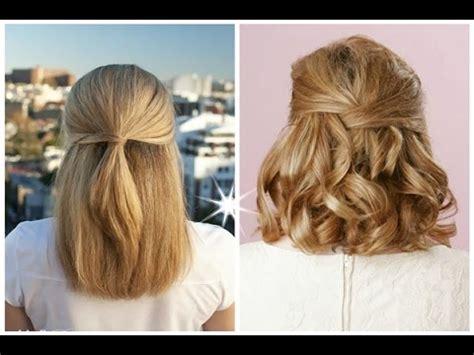 half up half down hairstyles youtube short hairstyles half up half down best half up half down