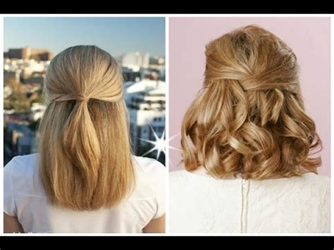 best half up half down hairstyles for long short curly