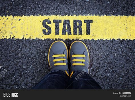 how to start a home decor line start line child sneakers standing image photo bigstock