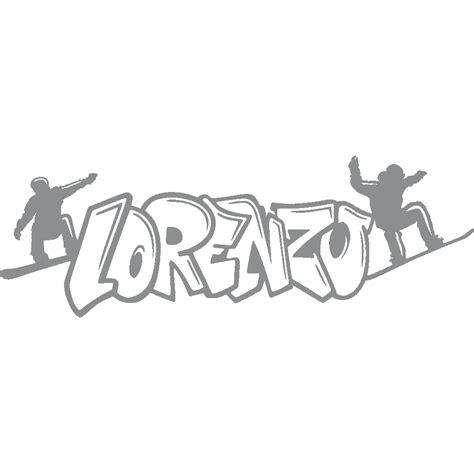 stickers lorenzo graffiti snowboard art stick