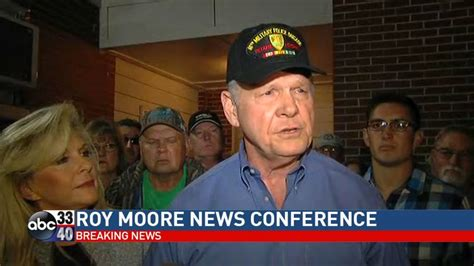 roy moore news conference watch roy moore holding news conference wbma