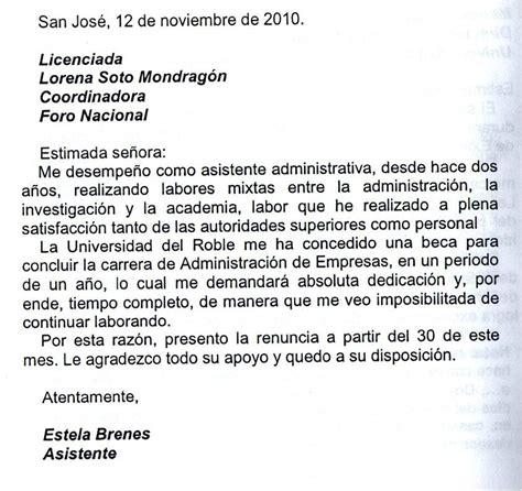 ejemplo de carta de empleador c 243 mo redactar una carta de renuncia ejemplos de