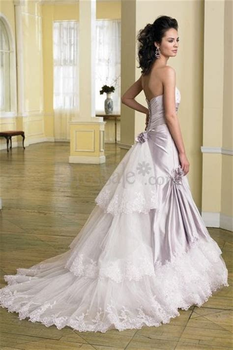 wedding light purple brilliant wedding dress