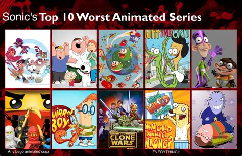 10 Best Shows by Sonic S Top 10 Worst Animated Shows By Gokuandsonic707 On