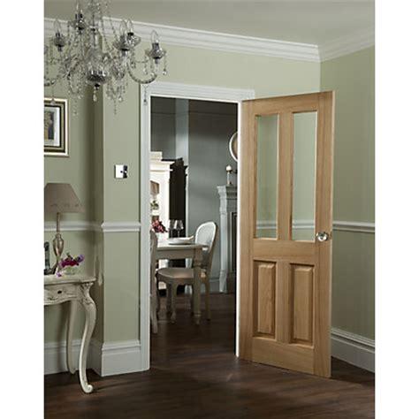 Homebase Interior Doors 2 Light Clear Glazed Oak Veneer Door 826mm Wide