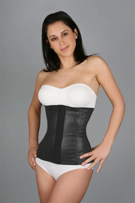 Squeem Seductive Vest Black L flakisima cotton rubber waist cincher faja 88336 s