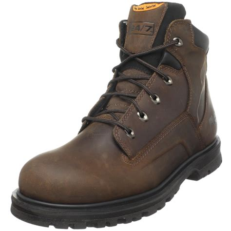 timberland work boots for timberland pro mens magnus 6 soft toe work boot in brown