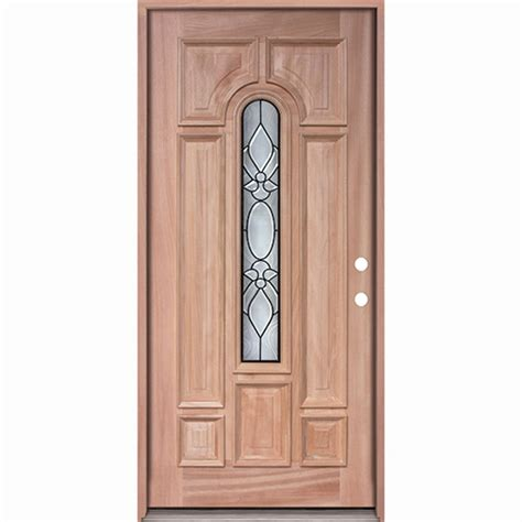 prehung exterior doors 36 quot unfinished prehung mahogany exterior door unit left
