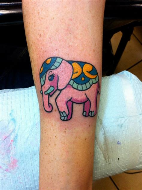 pink elephant tattoo reviews elephant tattoos page 40