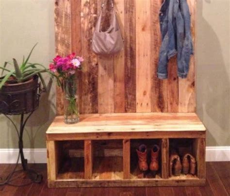 diy pallet shoe bench shoe rack pallet bench the whoot