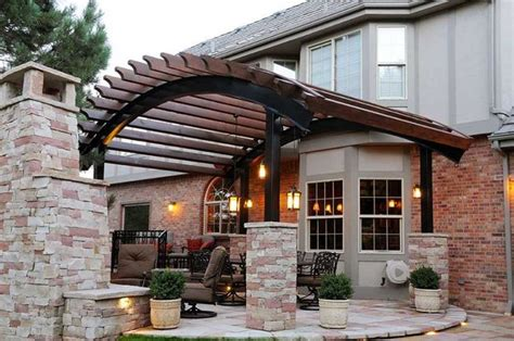 patio with pergola and fireplace m 246 bel pinterest