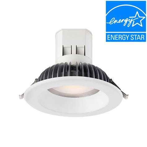 6 led recessed lighting 4000k envirolite easy up 6 in bright white led recessed light