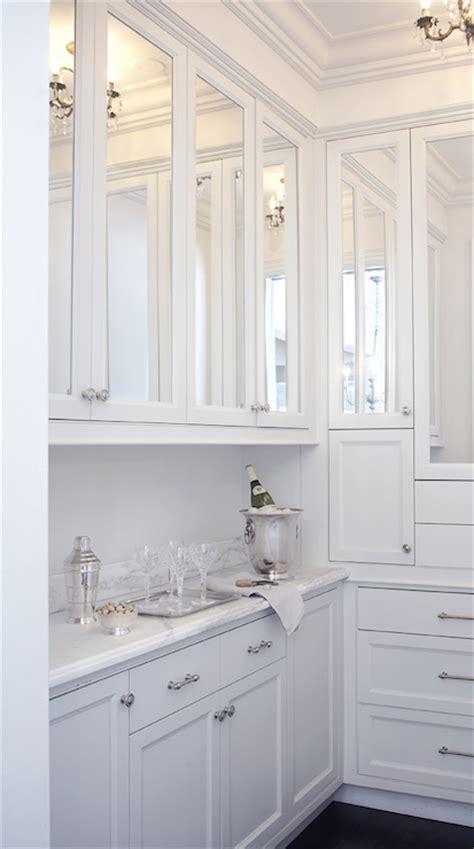 Butler Pantry Ideas Transitional Kitchen Leo Designs Mirrored Kitchen Cabinet Doors