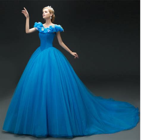 Cinderella Soft Blue Dress aliexpress buy sale 2015 new deluxe blue cinderella dress costume