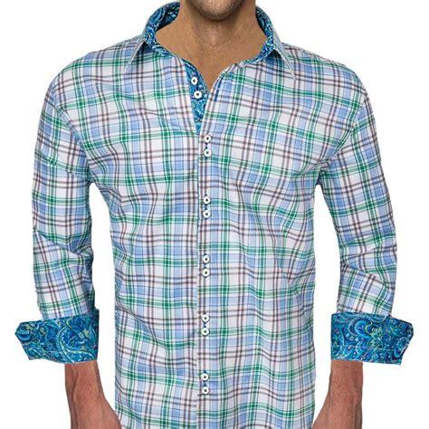 Brown And Green Shirt green blue plaid dress shirts