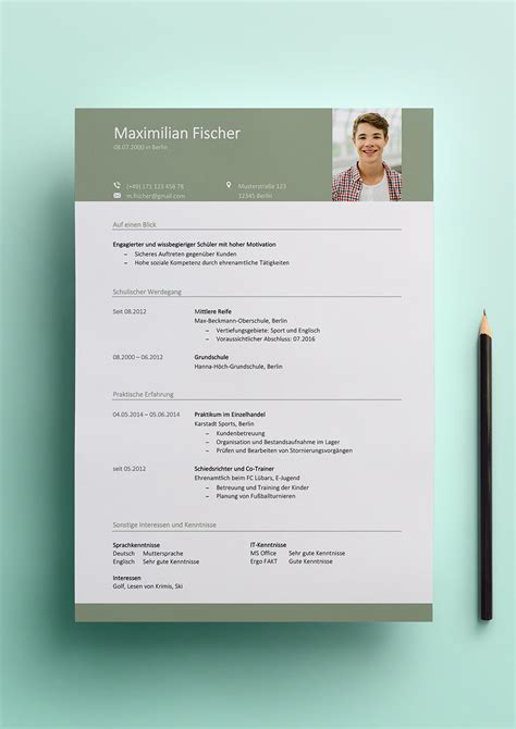 Lebenslauf Muster Nebenjob Bewerbung F 252 R Einen Perfekt Gestalten Inklusive Vorlagen