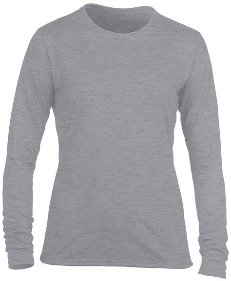 Sweater Gildan 88000 Crewneck Size Xs Xl gildan performance womens sleeved crew neck shirts tops size xs 2xl ebay