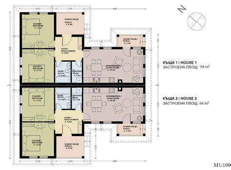 home plans semi detached house plans