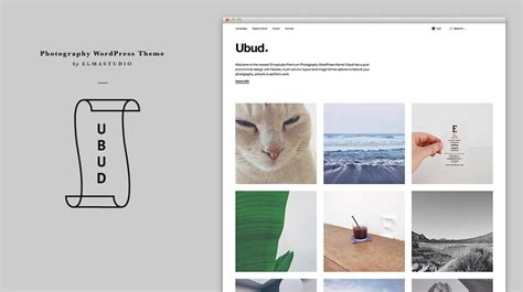 ubud our newest minimal photography wordpress theme