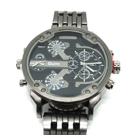 Jam Gc Stainless Steel oulm jam tangan analog stainless steel 3548 black jakartanotebook