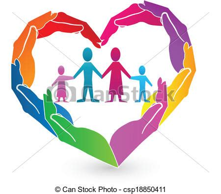 imagenes vectores familia logotipo manos familia coraz 243 n logotipo manos