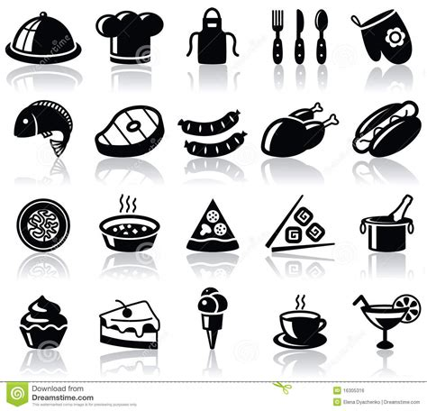 Kitchen Knive Set food icons royalty free stock image image 16305316