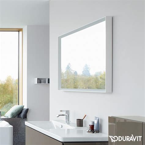 L For Mirror L Cube Led Bathroom Mirror By Duravit Just Bathroomware