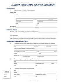 Alberta Lease Agreement Template residential lease agreement alberta free download