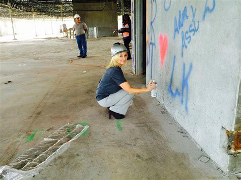 spray painter port kennedy port st paints the walls keiser