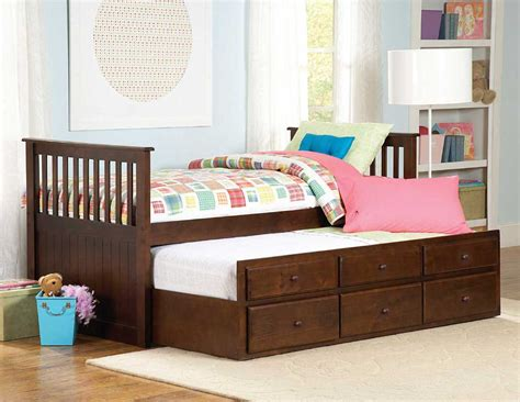 trundle beds homelegance zachary twin twin trundle bed 571pe 1