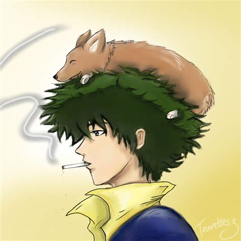 spike spiegel and ein cowboy bebop by tourettesz on