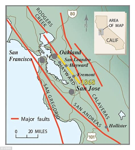 hayward fault map hayward fault could cause greatest disaster to hit us warn experts daily mail