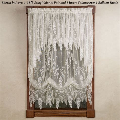 curtain and valance wisteria arbor lace valances and curtain panels