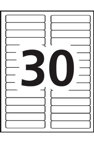 Avery 174 Removable Filing Labels 6505 Template 30 Labels Per Sheet Avery School Labels Template