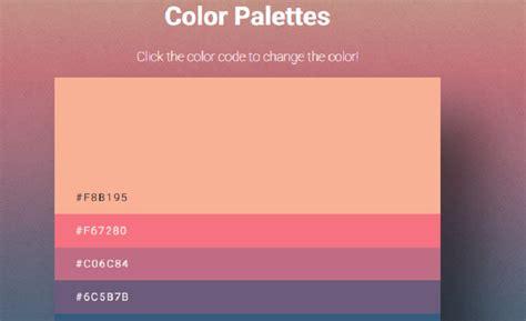 css color palette 15 css color palettes 2019 free html designs
