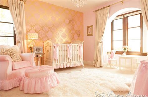 pink and gold baby room as kate and william celebrate princess s birth most extravagant rooms revealed