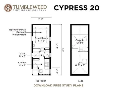 tiny house dimensions cypress