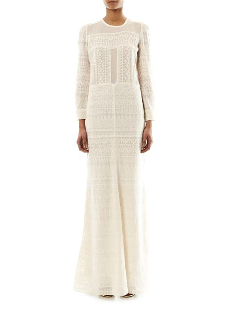 Isabell Maxi White by Lyst Marant Talma Embroidered Maxi Dress In White