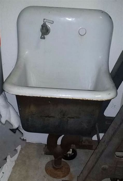 vintage cast iron farm sink antique farmhouse industrial
