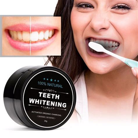 activated charcoal teeth whitening  organic coconut