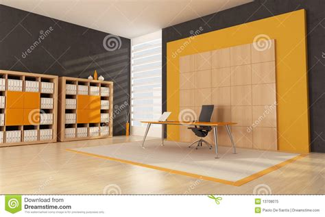 Orange Office by Orange Office Space Royalty Free Stock Photo Image 13708075