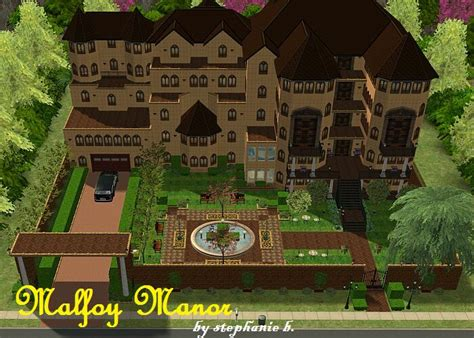 Basic Home Floor Plans mod the sims harry potter collection malfoy manor
