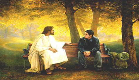 jesus on bench funny quotes for facebook jesus christ quotesgram